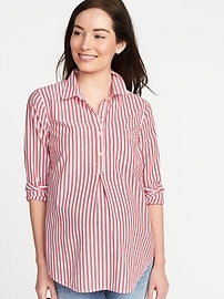 Maternity Relaxed Popover Shirt
