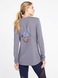 Ultra-Light Cut-Out Back Performance Top for Women