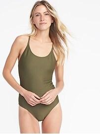 Textured-Stripe Swimsuit for Women