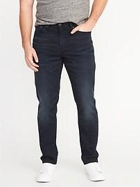 Athletic Built-In Flex Blue-Black Jeans for Men