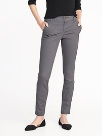 Mid-Rise Skinny Everyday Khakis for Women