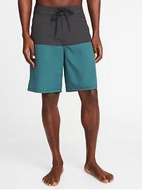 "Color-Block Board Shorts for Men (10"")"