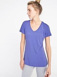 Ultra-Light V-Neck Performance Tee for Women