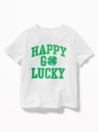 """Happy Go Lucky"" St. Patrick's Day Tee for Toddler Boys"