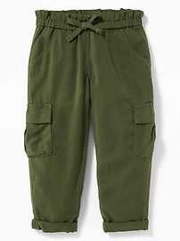 Soft Twill Cargos for Toddler Girls