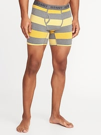 Soft-Washed Printed Boxer Briefs for Men