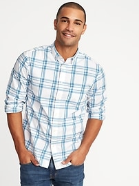 Regular-Fit Built-In Flex Classic Shirt for Men