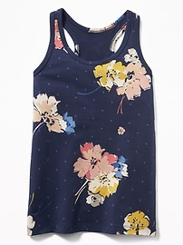 Fitted Racerback Tank for Girls