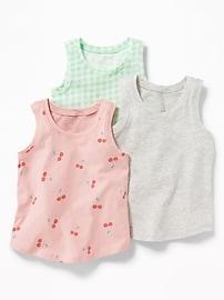 Débardeur en jersey pour toute-petite fille (paquet de3)