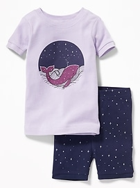 Whale-Graphic Sleep Set for Toddler & Baby
