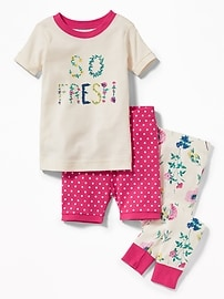 "3-Piece ""So Fresh"" Graphic Sleep Set for Toddler & Baby"