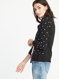 Classic Crew-Neck Cardi for Women