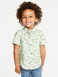Built-In Flex Reptile-Print Shirt for Toddler Boys