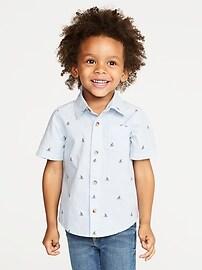Built-In Flex Shark-Fin Shirt for Toddler Boys