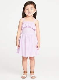 Fit & Flare Ruffle-Trim Dress for Toddler Girls