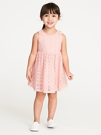 Sleeveless Eyelet Dress for Toddler Girls
