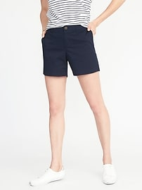 Short Everyday en sergé à taille mi-haute pour femme (13cm)