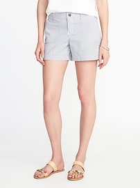 "Mid-Rise Twill Shorts for Women (5"")"