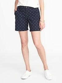 "Mid-Rise Everyday Khaki Shorts for Women (7"")"