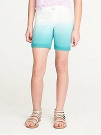 French-Terry Dip-Dye Midi Shorts for Girls