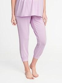 Maternity Cropped Lounge Pants