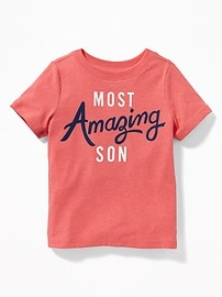 Graphic Crew-Neck Tee for Toddler Boys