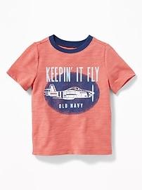 Graphic Slub-Knit Tee for Toddler Boys