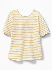 Fitted Ballet-Neck Tee for Toddler Girls