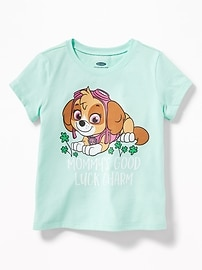 "Paw Patrol&#153 ""Mommy's Good Luck Charm"" Tee for Toddler Girls"