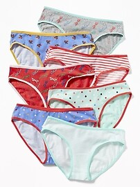Paquets de 7sous-vêtements bikini à imprimé pour fille