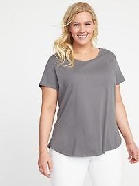 T-shirt décontracté tout-aller, taille Plus