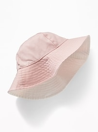 Reversible Canvas Sun Hat for Toddler Girls