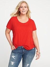 T-shirt EveryWear en tricot grège, taille Plus