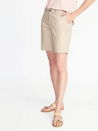 """Mid-Rise Everyday Twill Shorts for Women (9"""")"""