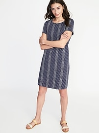 Slub-Knit Tee Dress for Women