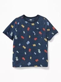T-shirt à imprimé à poche pour tout-petit garçon