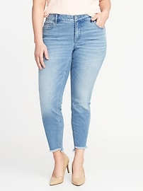 Smooth & Slim High-Rise Plus-Size Rockstar Step-Hem Jeans