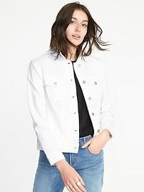 Clean-Slate White Denim Jacket for Women