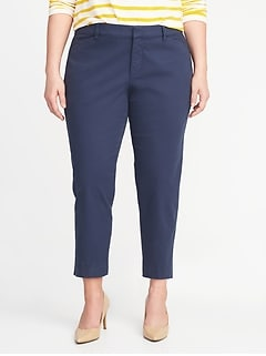 Mid-Rise Secret-Slim Pockets Plus-Size Pixie Chinos