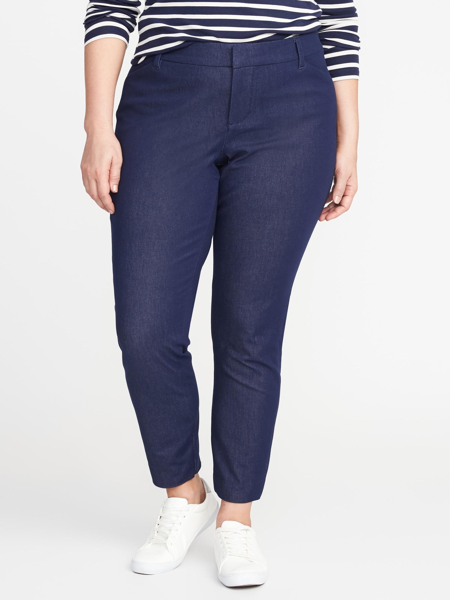 4b203f572b9 Mid-Rise Secret-Slim Pockets Plus-Size Pixie Pants