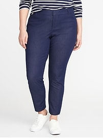 Smooth & Slim Plus-Size Mid-Rise Pixie Pants