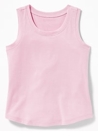 Soft-Washed Jersey Tank for Toddler Girls