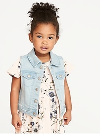 Denim Vest for Toddler Girls