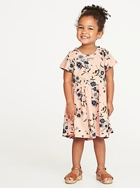 Fit & Flare Hi-Lo Dress for Toddler Girls