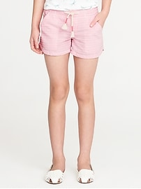Striped Seersucker Shorts for Girls