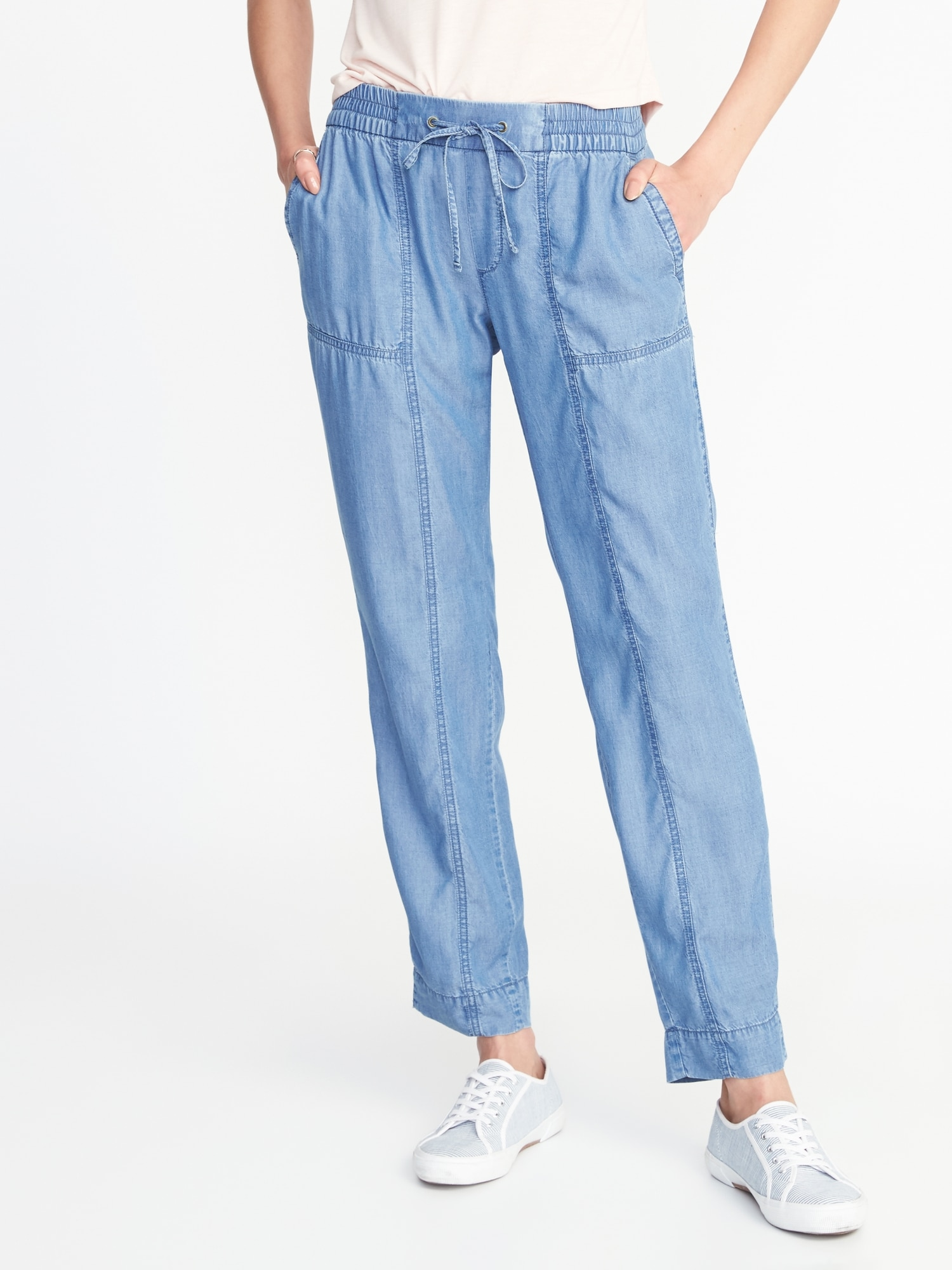 983ff79d62b8 Mid-Rise Tencel® Utility Cropped Pants for Women