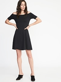 Fit & Flare Off-the-Shoulder Dress for Women