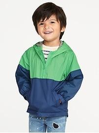 Hooded Lightweight Anorak for Toddler Boys