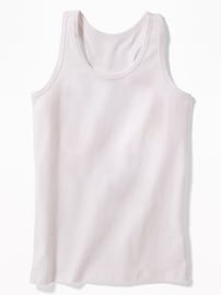 Fitted Racerback Scoop-Neck Tank for Girls