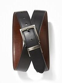 Men's Faux-Leather Reversible Belts